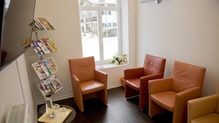 Das Wartezimmer in der DentalOase